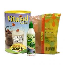 Batido de Avellanas y Cacao Puro con Stevia. (Pack)